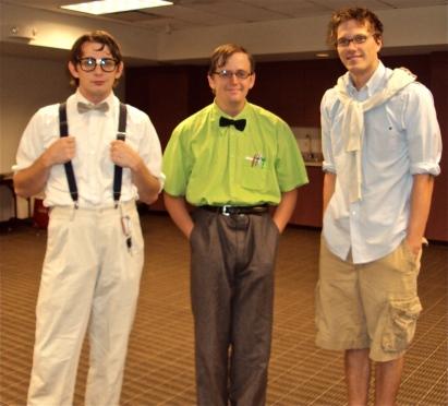 Pat, Ben and Justin as Nerds