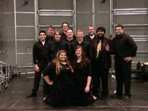 Collegium Tubum backstage at ITEC Bloomington
