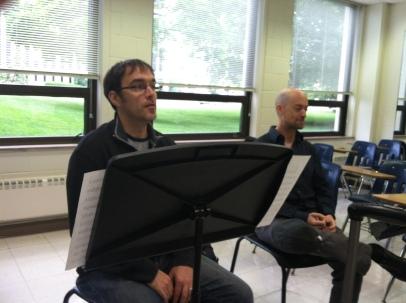A singing rehearsal