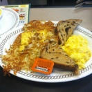 """Cheese 'n eggs, rasin toast, grits and """"scattered, smothered and covered""""!"""